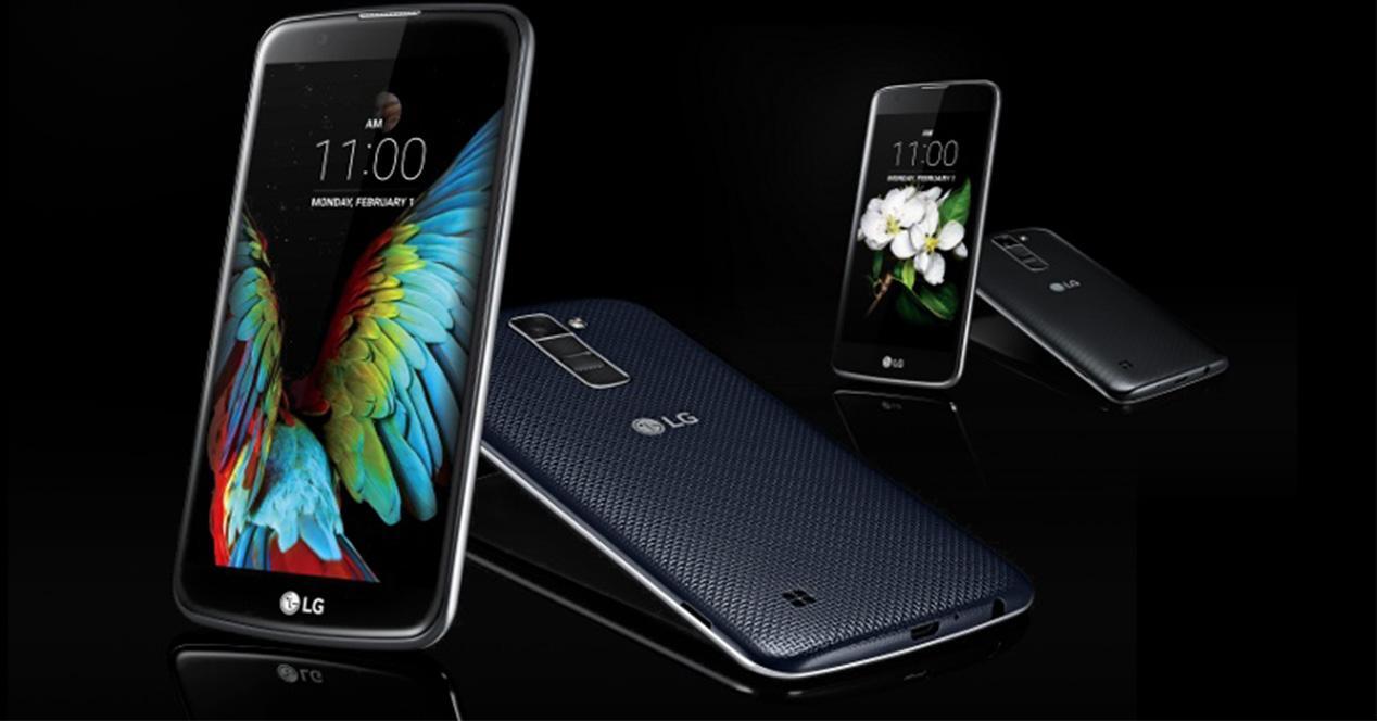 Nuevos smartphones LG K