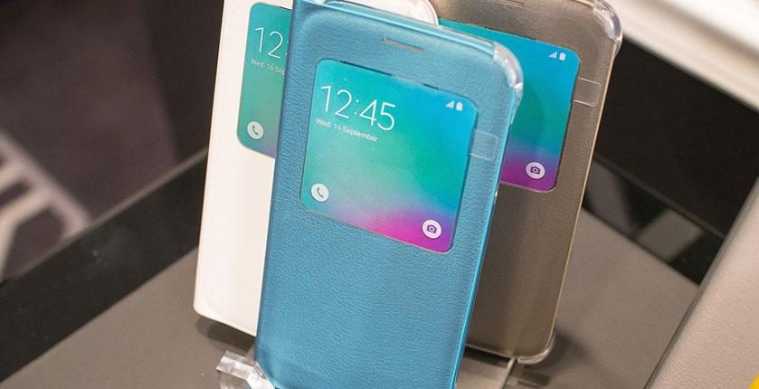 Samsung Galaxy S6 con carcasa S View