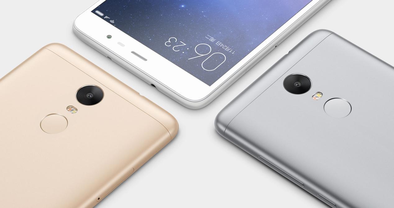 Xiaomi Redmi Note 3 en colores gris blanco y dorado