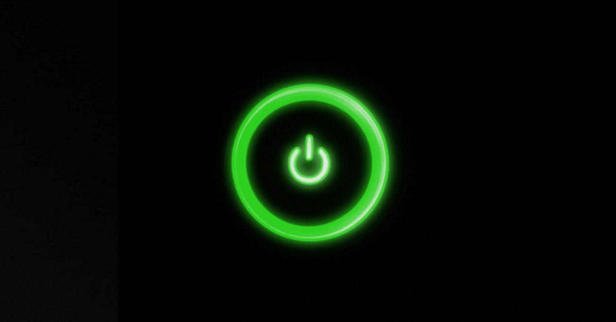 boton on en verde