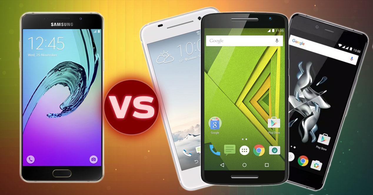 Samsung Galaxy A5 (2016), HTC One A9, OnePlus X, Motorola Moto X Play
