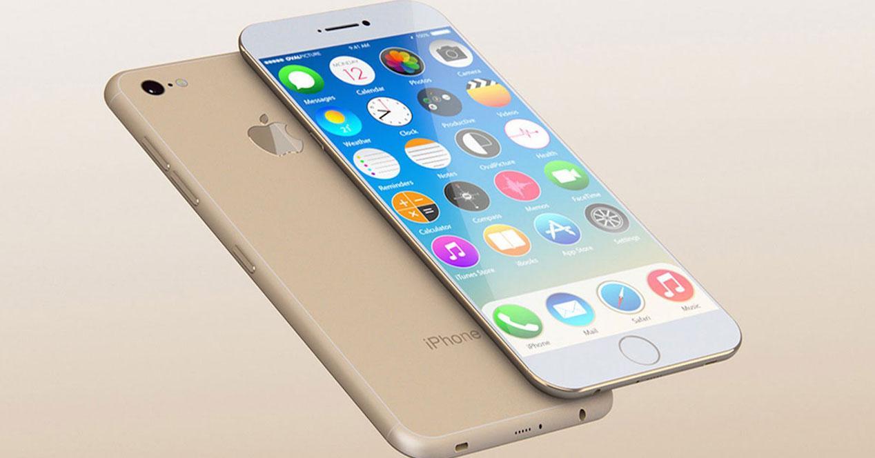 iPhone 7 dorado prototipo concepto