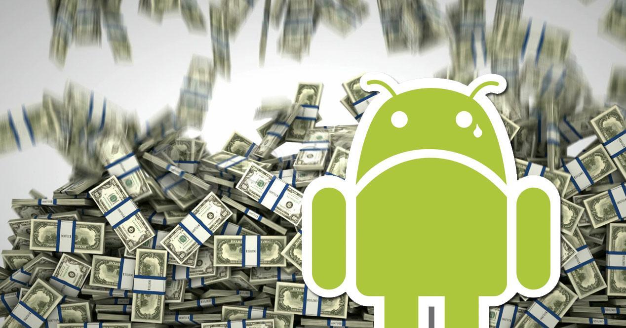 android dinero cayendo