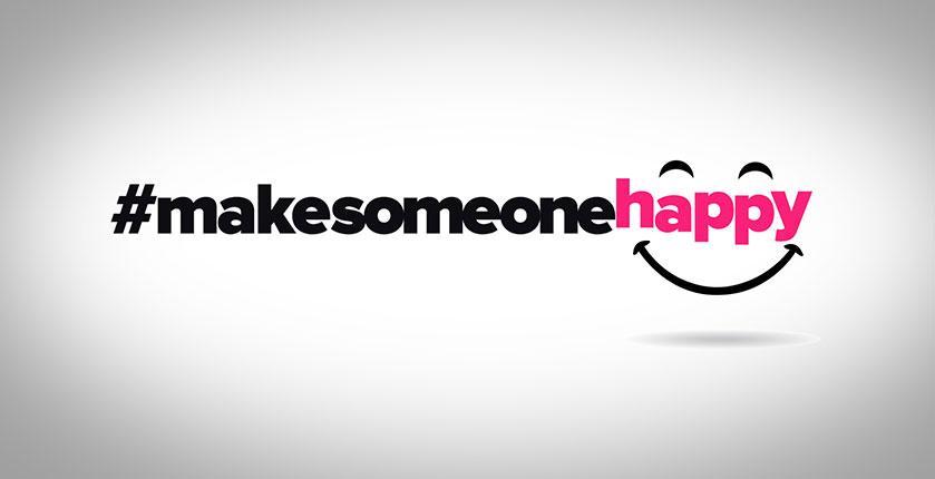 hashtag #makesomeonehappy