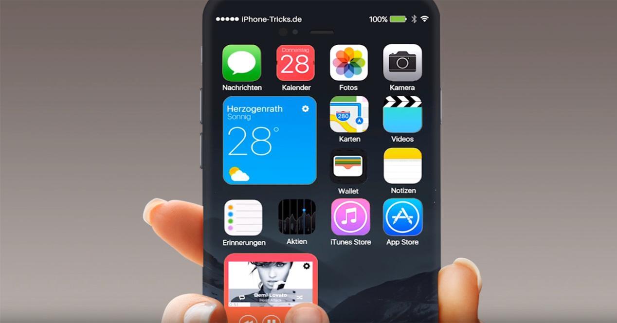 Versión de iOS 10 conceptual