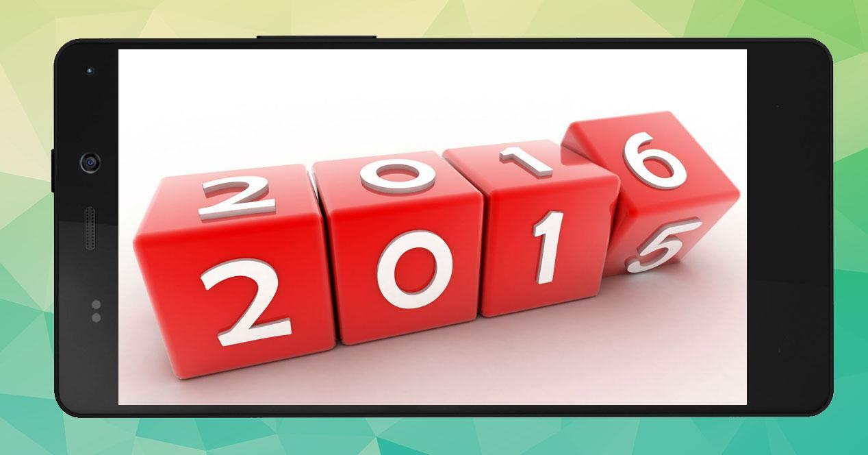 movil generico con 2016 de fondo