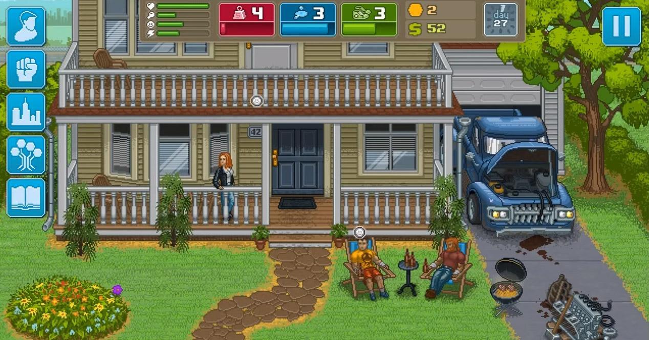 Punch Club juegos pixelados