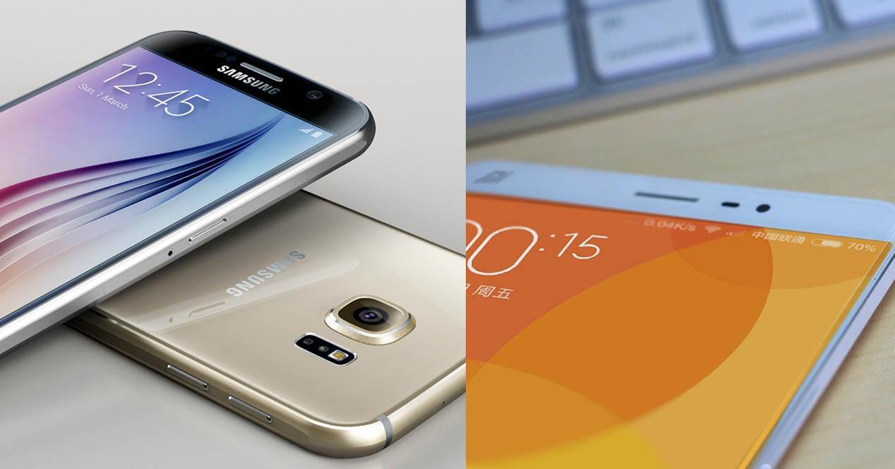 Xiaomi Mi5 y galaxy s6