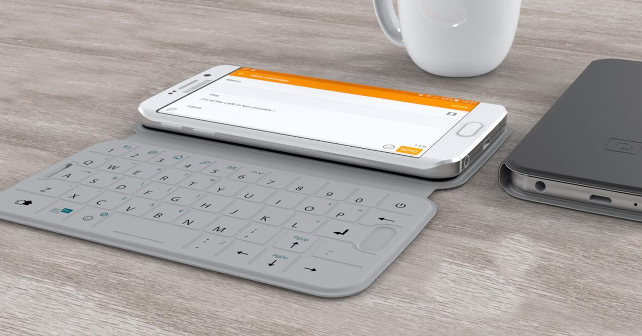 Funda con teclado Sllimtype para Samsung Galaxy S6 y s6 edge