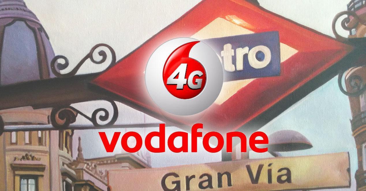 Vodafone 4G en el metro