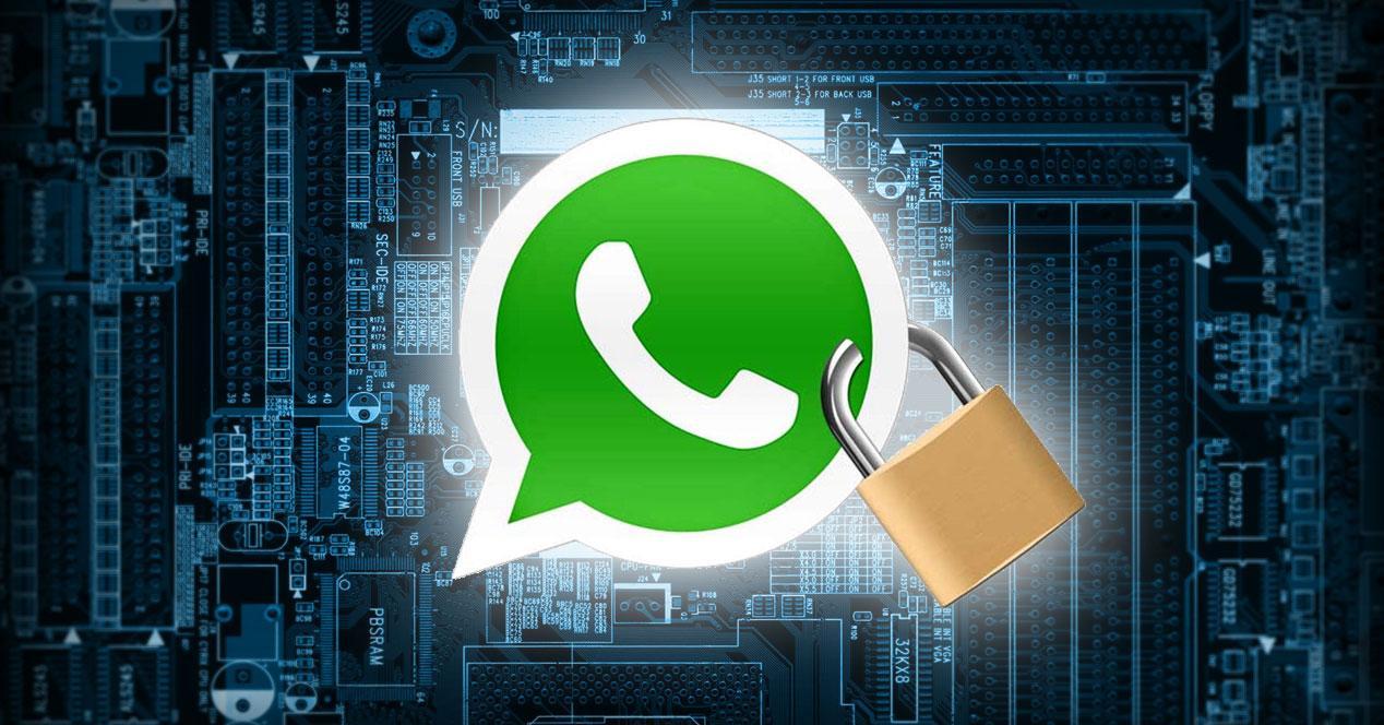 Logo de whatsapp con candado