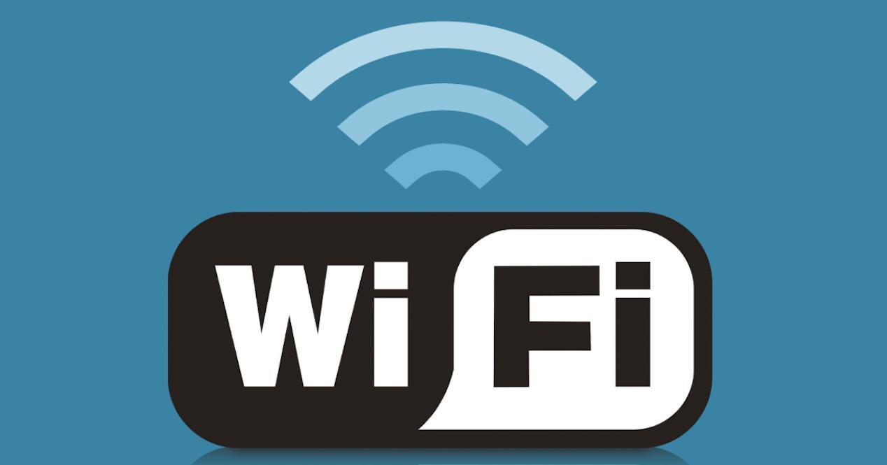 logo de wifi sobre fondo azul