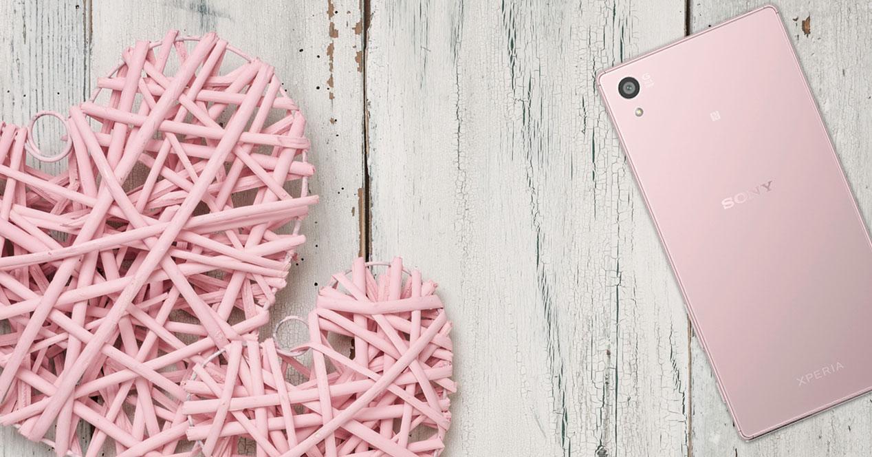 Sony Xperia Z5 Rosa con corazones