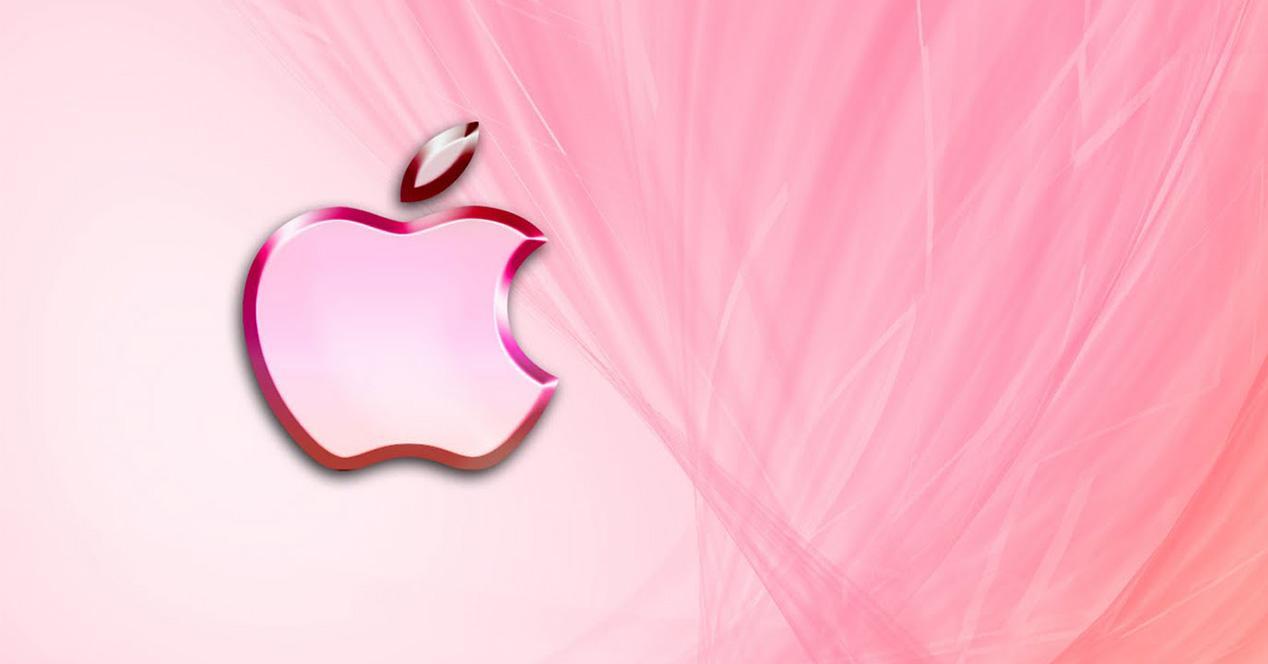 Logo de Apple en rosa