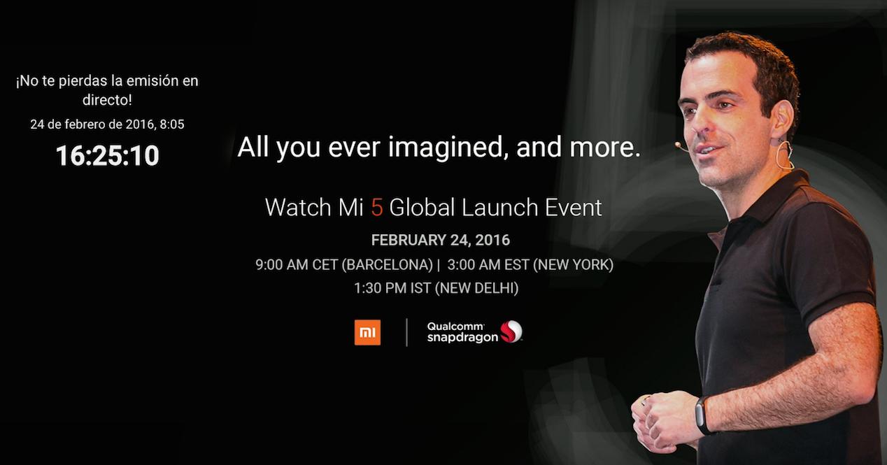 ver en directo la presentación del Xiaomi Mi5