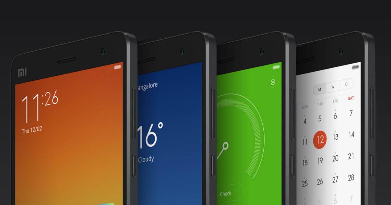 Bodegon de la gama Xiaomi Mi4