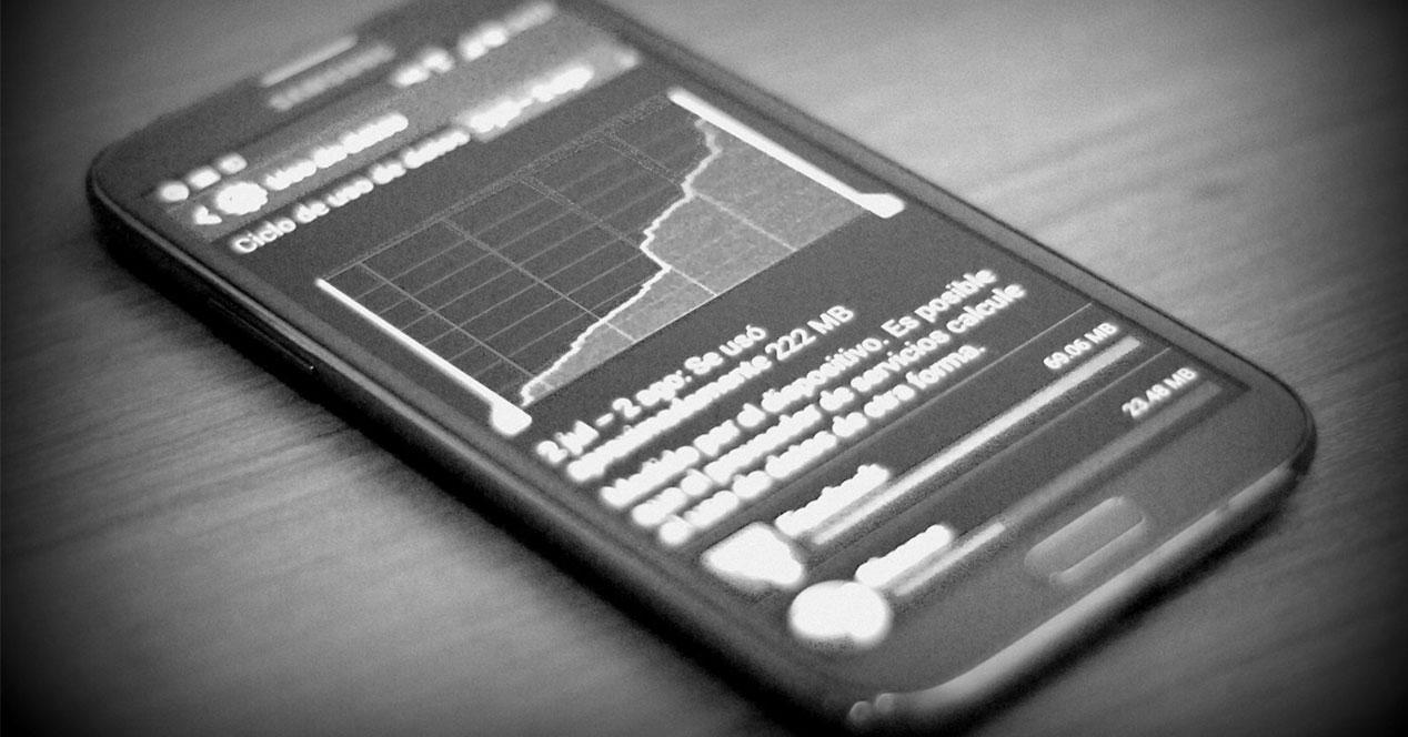 Medidor de consumo de datos en Android