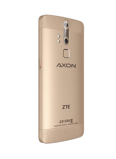 ZTE Axon Elite oro perfil