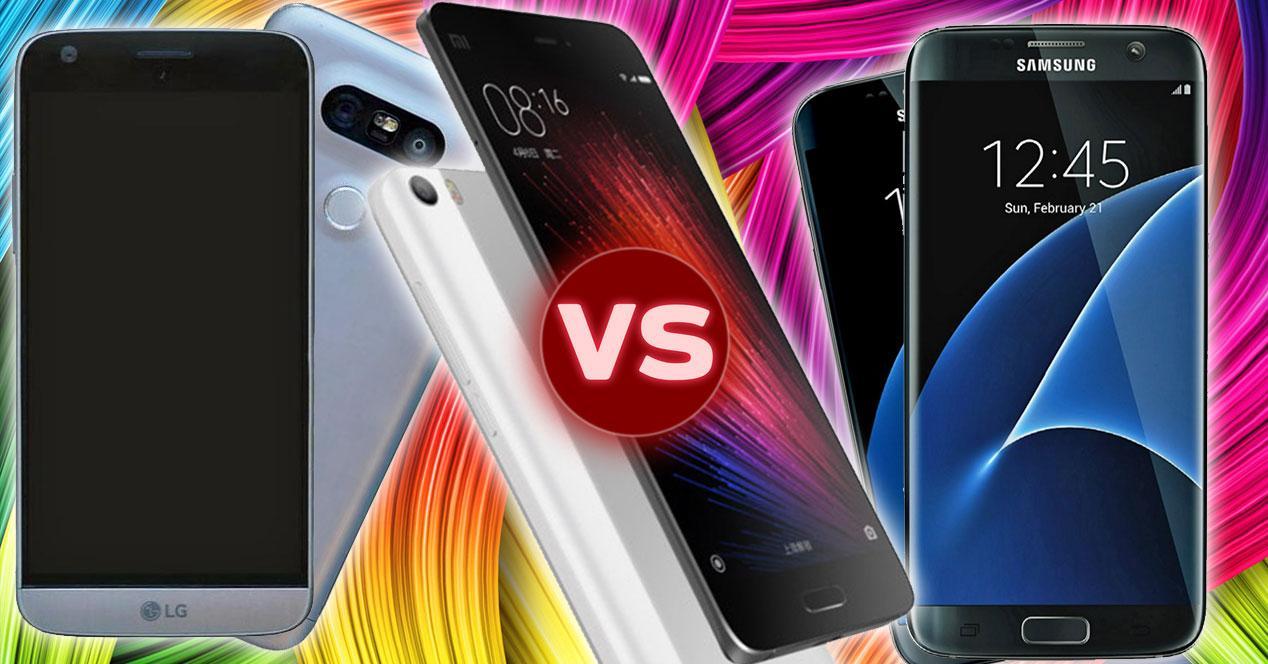 LG G5, xiaomi mi5, samsung galaxy s7
