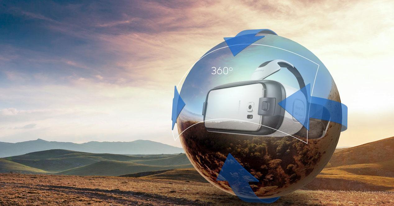 Esfera con Gear VR dentro y Galaxy S6