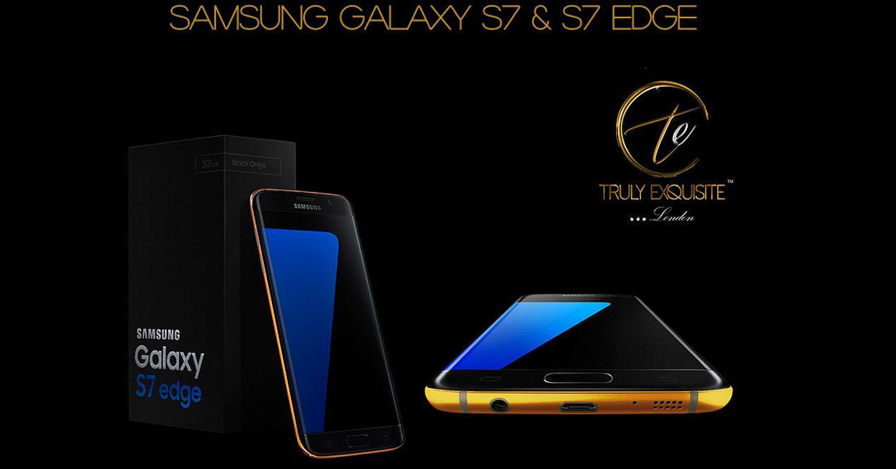 Samsung Galaxy S7 chapado en oro