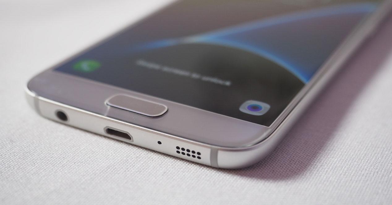 Samsung Galaxy S7 detalle de pantalla