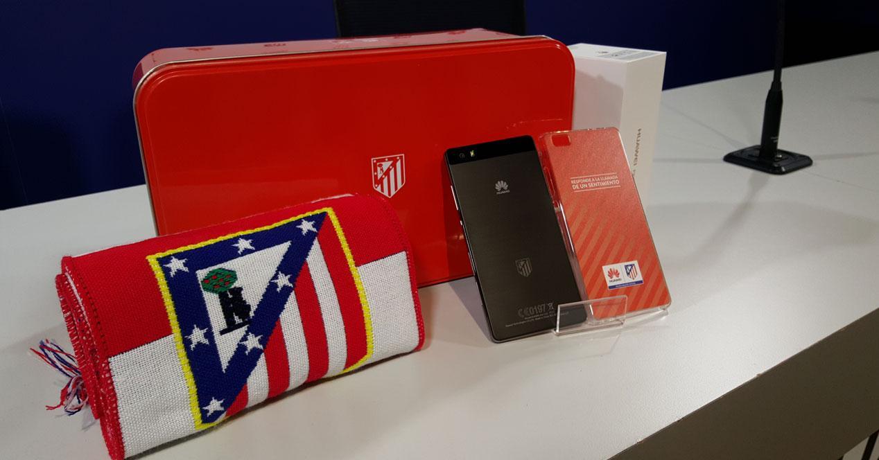 Huawei P8 Lite con el pack atlético de madrid