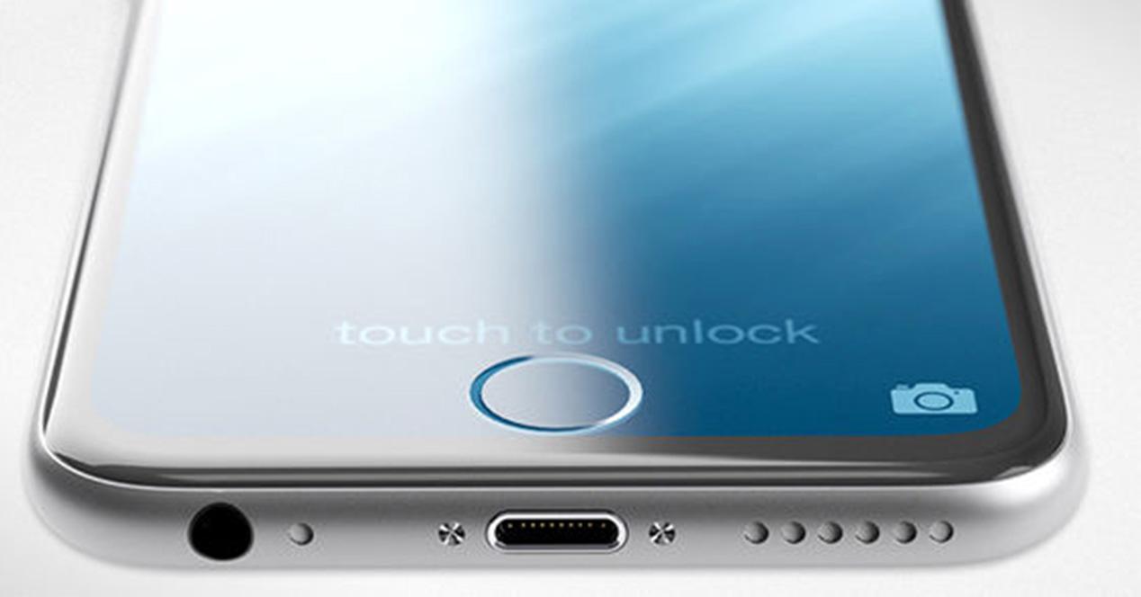 Boton Home tactil en iPhone