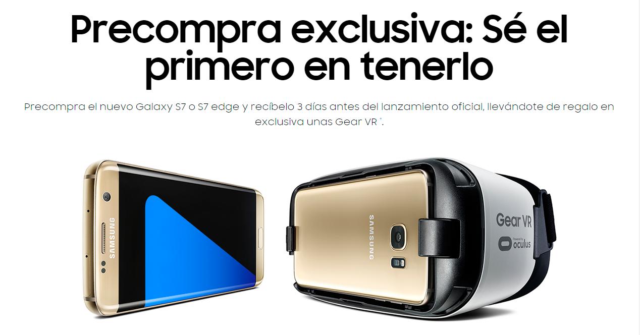 Preventa de los nuevos Galaxy S7 y Galaxy S7 edge