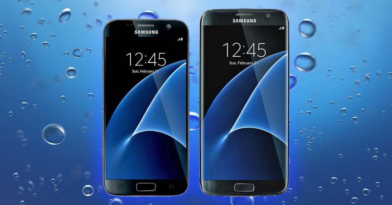 Galaxy S7 bajo el agua