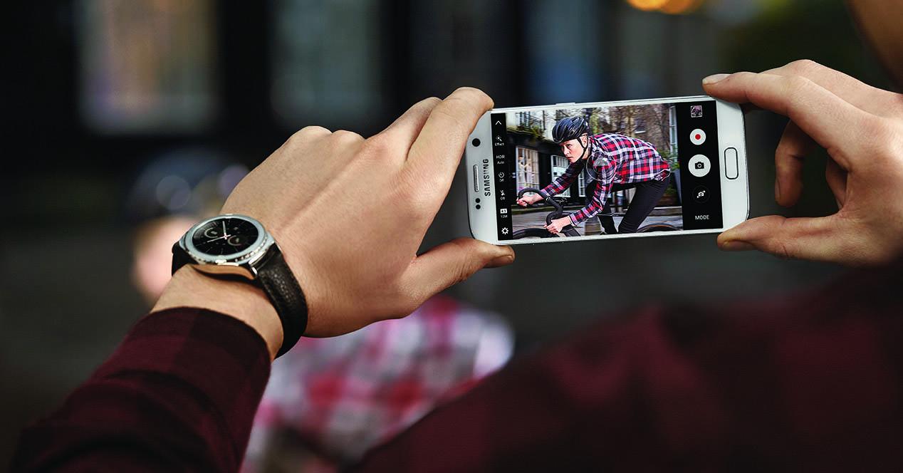 Samsung Galaxy S7 tomando fotos