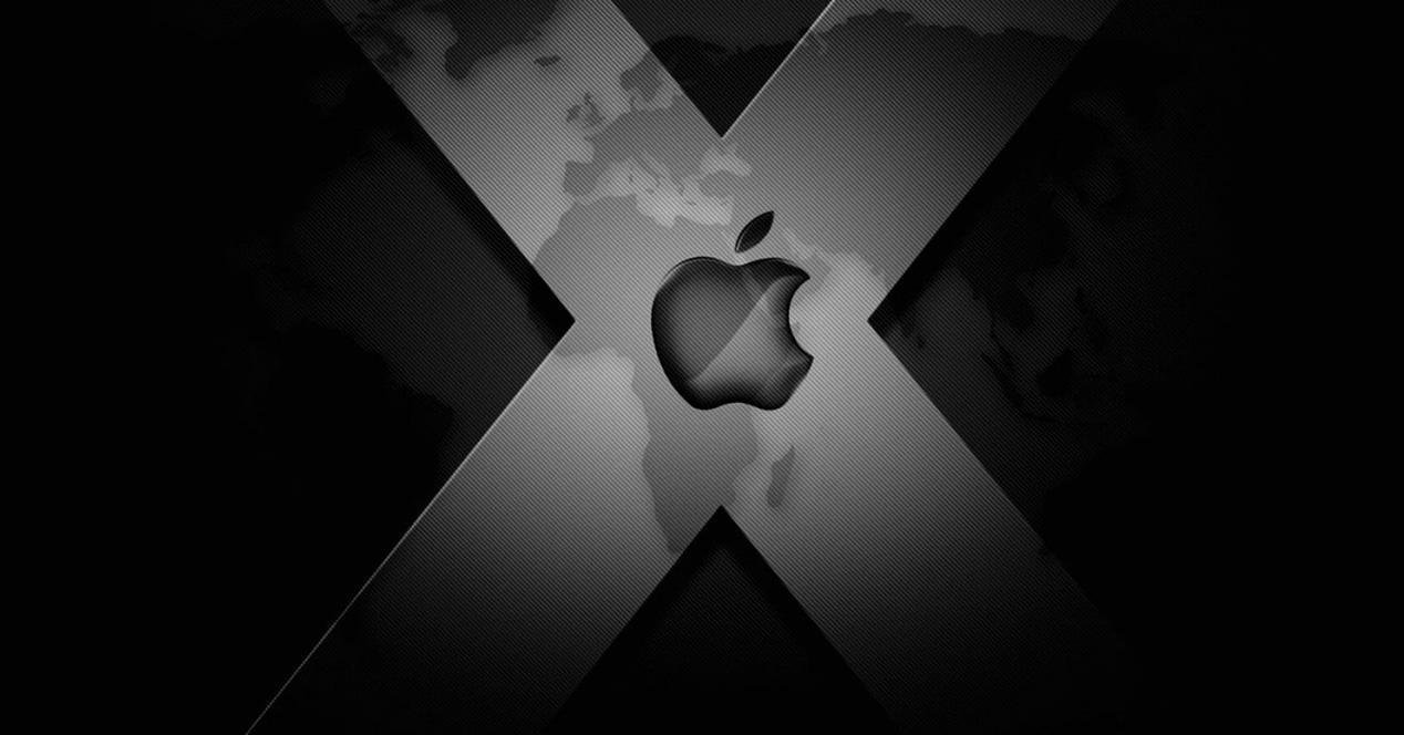 Logotipo de Apple sobre fondo negro
