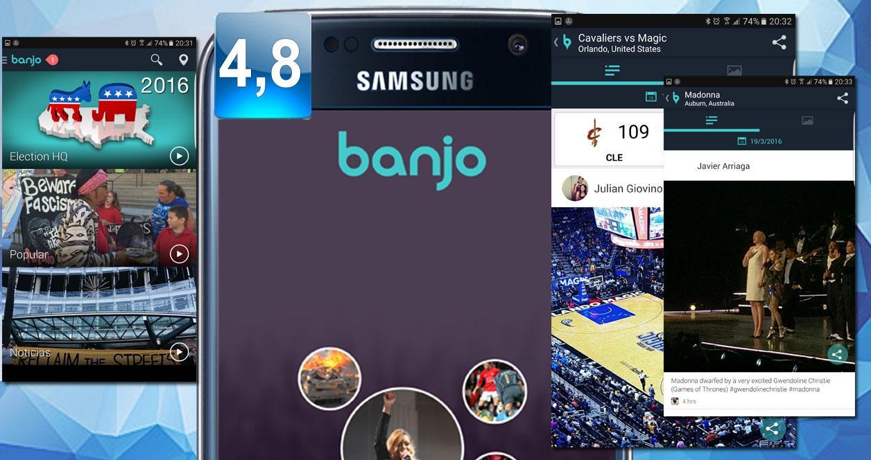 Aplicación Banjo