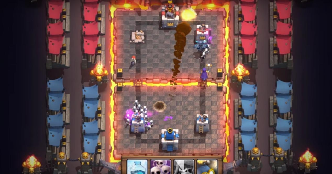 pantalla de juego de Clash Royale