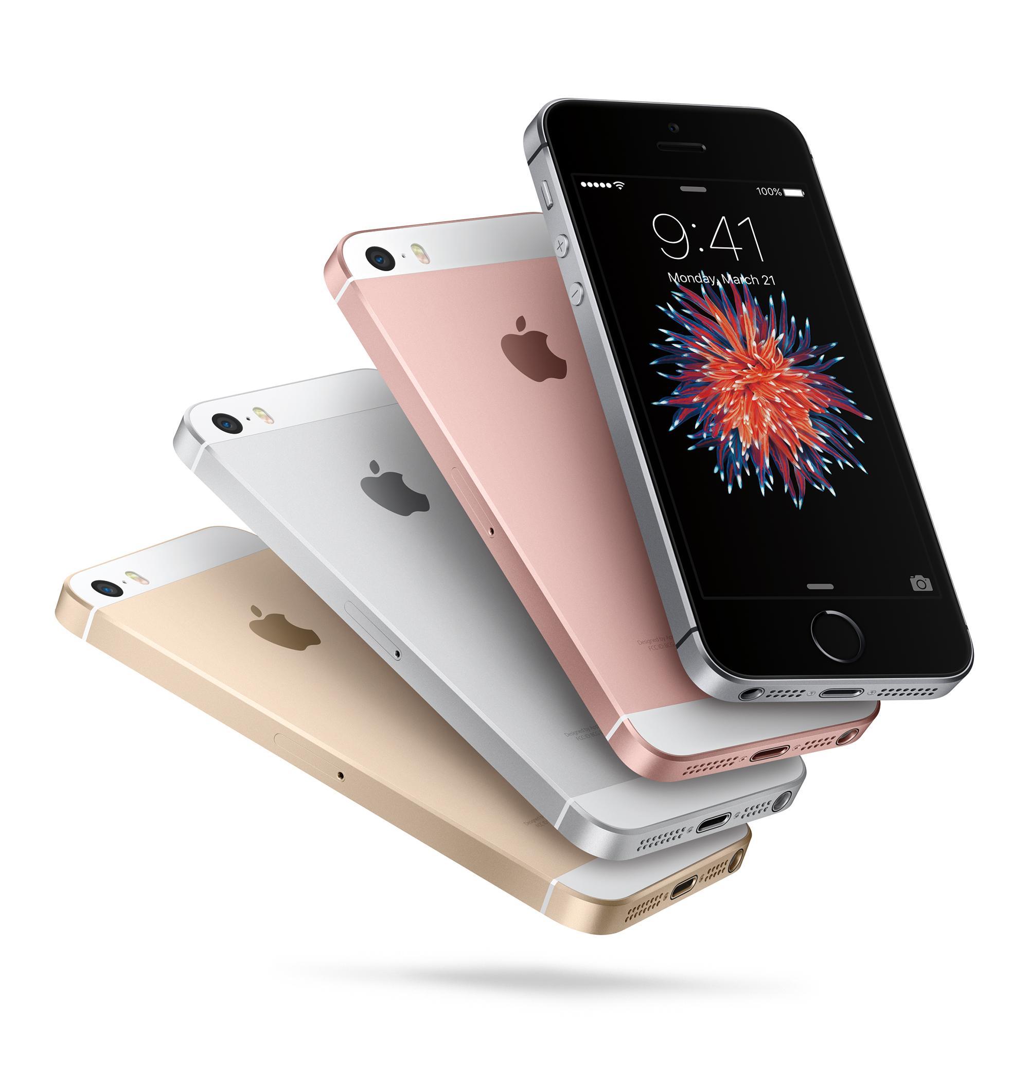 iPhone SE en plata oro y color negro