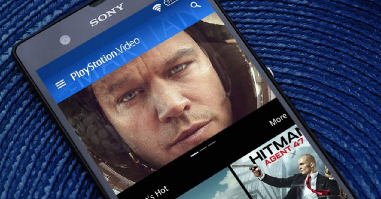Interfaz PlayStation Video app