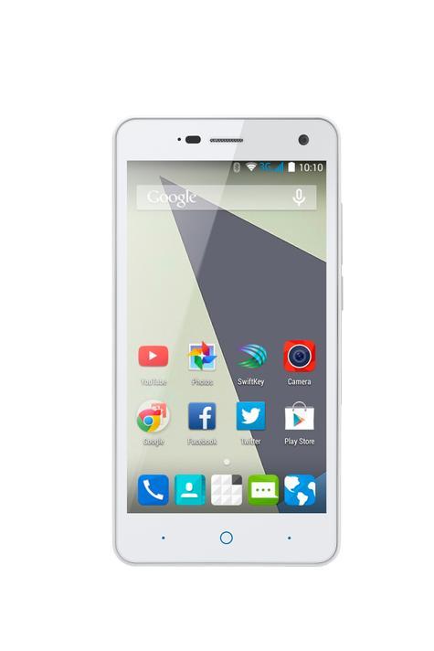 ZTE Blade L3 blanco frontal con pantalla de Android encendida