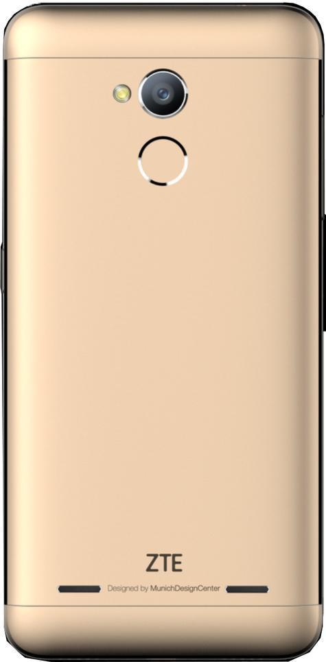 ZTE Blade V7 Lite en color oro vista trasera detalle de la cámara