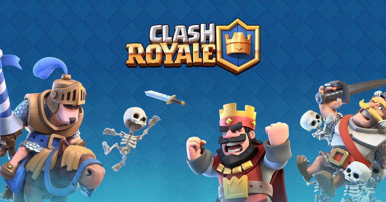 personajes de clash royale y logo