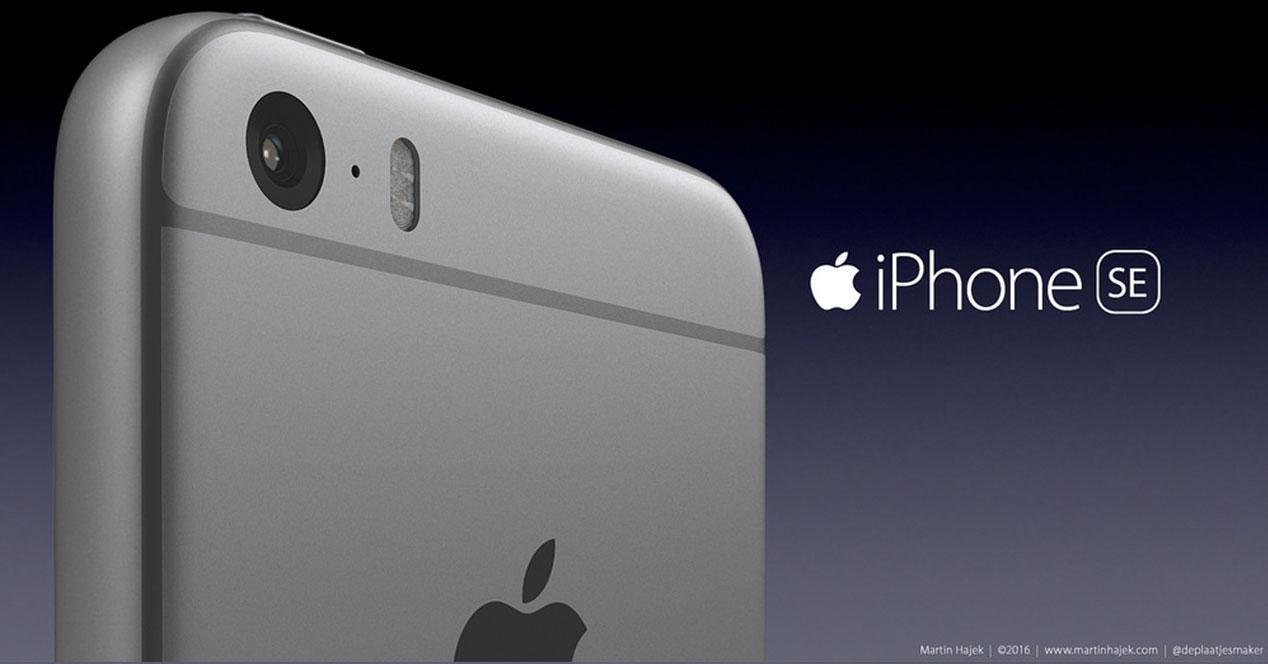 iPhone SE concepto camara