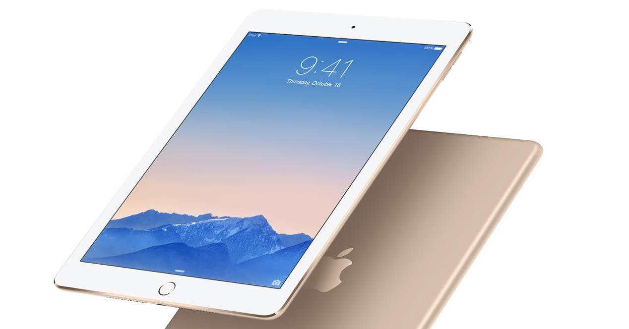 iPad Air 2 en color dorado