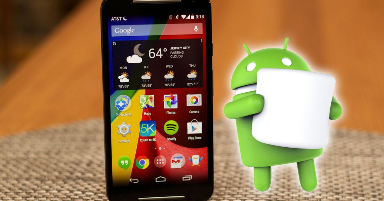 Motorola Moto G 2014 con android con marshmallow