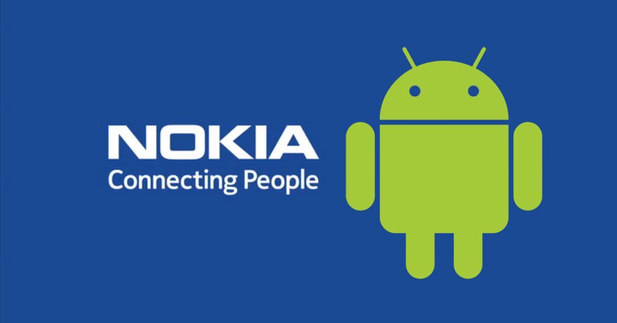 Nokia logo con Android