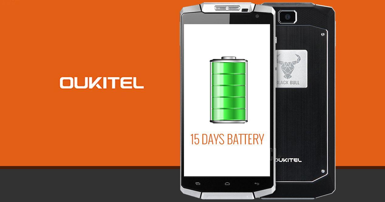 oukitel k10000 con 15 días de batería