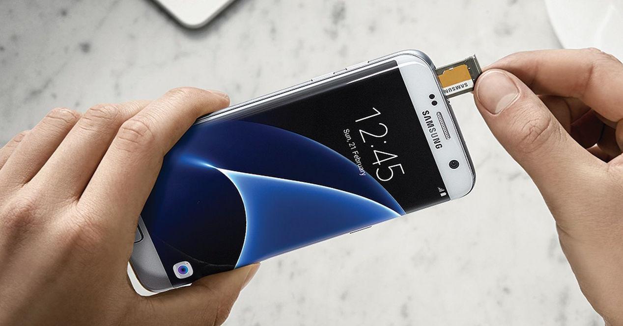 Samsung Galaxy S7 Edge bandeja microsd