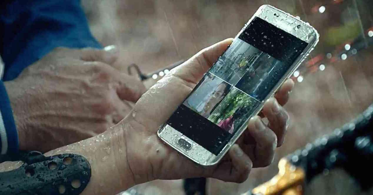 la resistencia al agua en los nuevos Samsung Galaxy S7