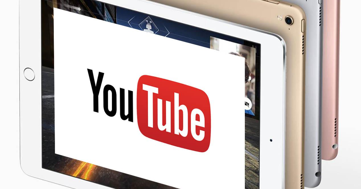 ipad pro mini con logo de youtube