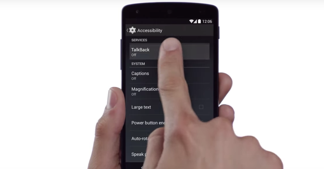 accesibilidad en Android