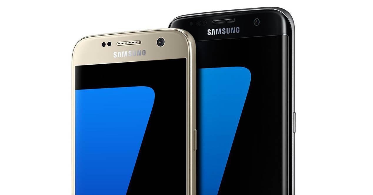 Samsung Galaxy S7 color dorado y negro