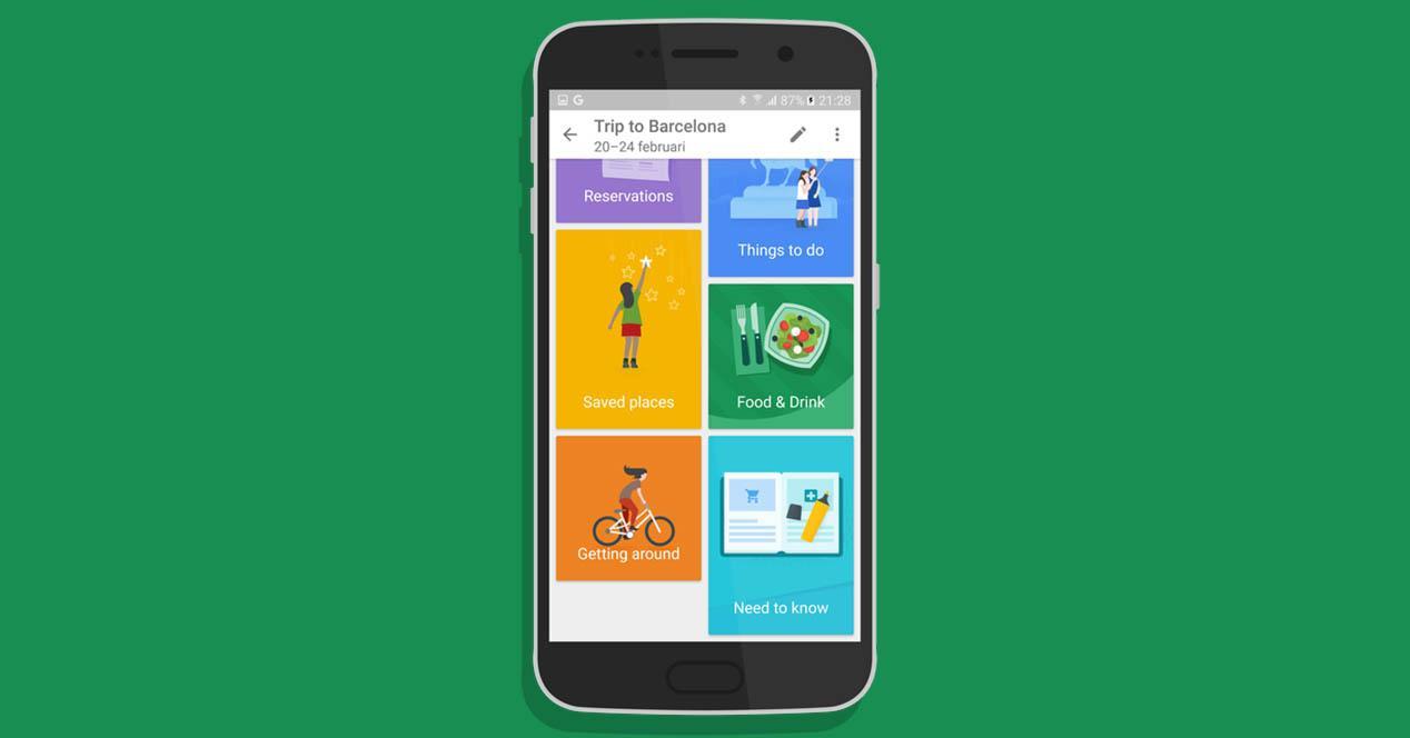 Google trips pantallazo